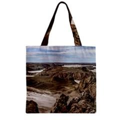 Miradores De Darwin, Santa Cruz Argentina Zipper Grocery Tote Bag