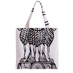 National Emblem of India  Grocery Tote Bag