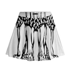 National Emblem of India  Mini Flare Skirt