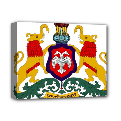 State Seal of Karnataka Deluxe Canvas 14  x 11