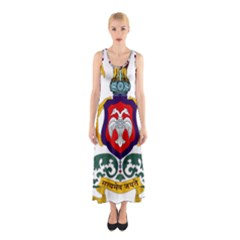 State Seal of Karnataka Sleeveless Maxi Dress