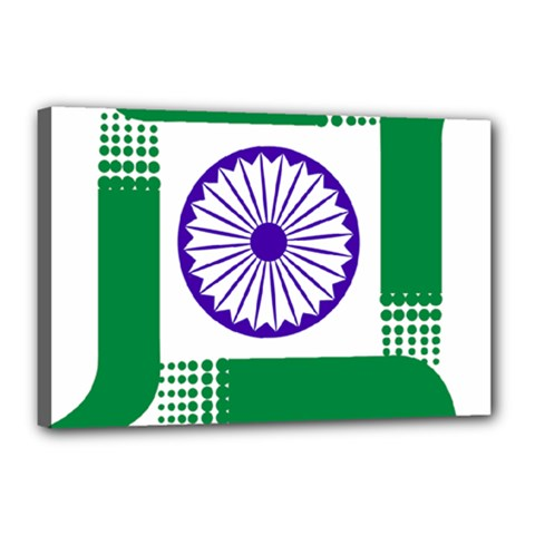 Seal of Indian State of Jharkhand Canvas 18  x 12