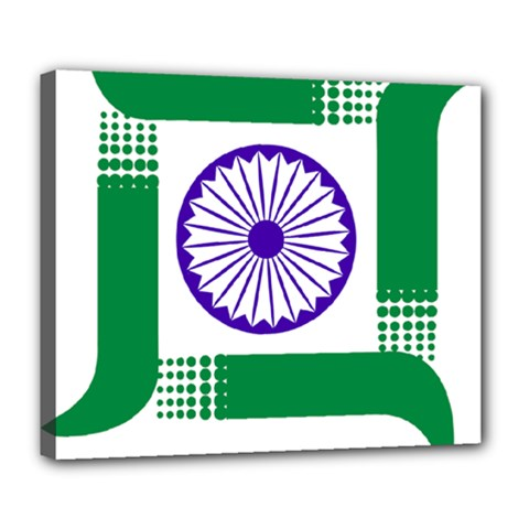 Seal of Indian State of Jharkhand Deluxe Canvas 24  x 20