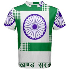Seal of Indian State of Jharkhand Men s Cotton Tee