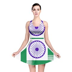 Seal of Indian State of Jharkhand Reversible Skater Dress