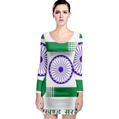 Seal of Indian State of Jharkhand Long Sleeve Bodycon Dress
