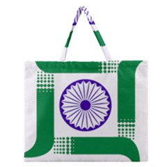 Seal of Indian State of Jharkhand Zipper Large Tote Bag