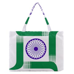 Seal of Indian State of Jharkhand Medium Zipper Tote Bag