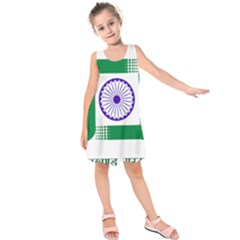 Seal of Indian State of Jharkhand Kids  Sleeveless Dress