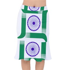 Seal Of Indian State Of Jharkhand Mermaid Skirt
