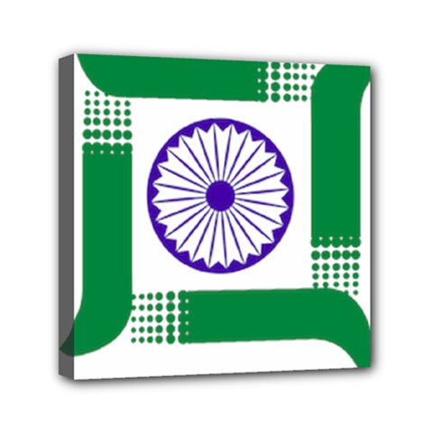 Seal of Indian State of Jharkhand Mini Canvas 6  x 6