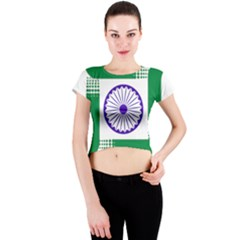 Seal of Indian State of Jharkhand Crew Neck Crop Top