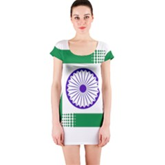 Seal of Indian State of Jharkhand Short Sleeve Bodycon Dress