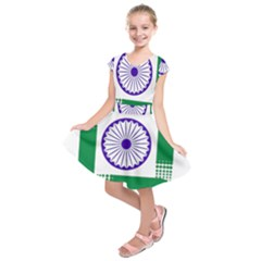 Seal Of Indian State Of Jharkhand Kids  Short Sleeve Dress