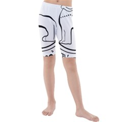 Seal of Indian State of Manipur Kids  Mid Length Swim Shorts