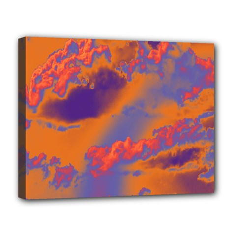 Sky pattern Canvas 14  x 11