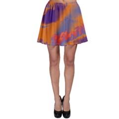 Sky pattern Skater Skirt