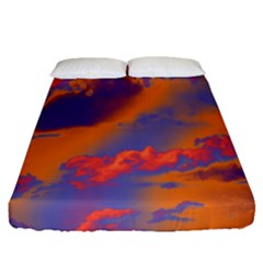 Sky pattern Fitted Sheet (Queen Size)