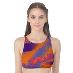 Sky pattern Tank Bikini Top