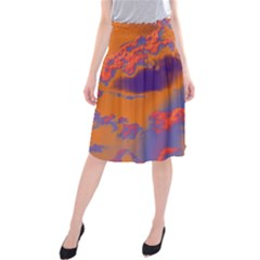 Sky pattern Midi Beach Skirt