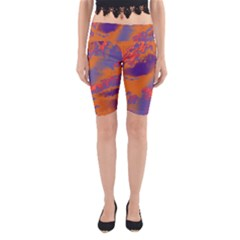 Sky pattern Yoga Cropped Leggings