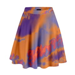Sky pattern High Waist Skirt