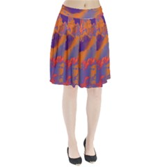 Sky pattern Pleated Skirt