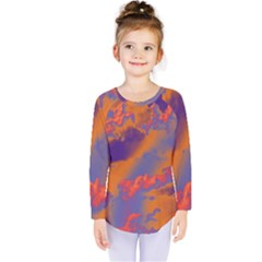 Sky pattern Kids  Long Sleeve Tee