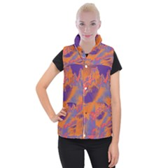 Sky pattern Women s Button Up Puffer Vest