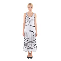 Seal of Indian State of Manipur  Sleeveless Maxi Dress