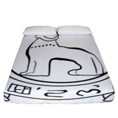 Seal of Indian State of Manipur  Fitted Sheet (California King Size)