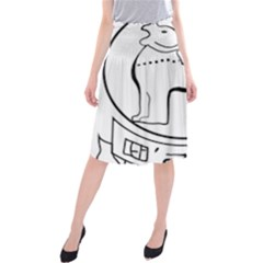 Seal of Indian State of Manipur  Midi Beach Skirt