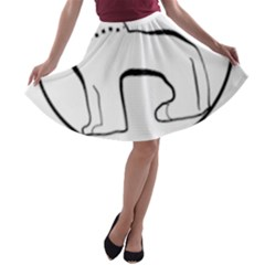 Seal of Indian State of Manipur  A-line Skater Skirt