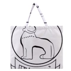 Seal of Indian State of Manipur  Zipper Large Tote Bag