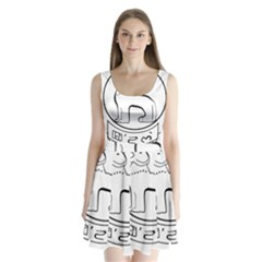Seal of Indian State of Manipur  Split Back Mini Dress