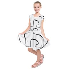 Seal Of Indian State Of Manipur  Kids  Short Sleeve Dress