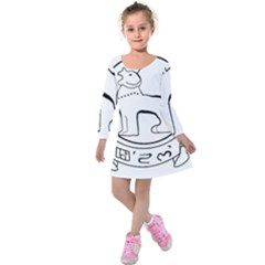 Seal of Indian State of Manipur  Kids  Long Sleeve Velvet Dress
