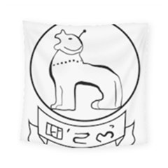 Seal of Indian State of Manipur  Square Tapestry (Small)