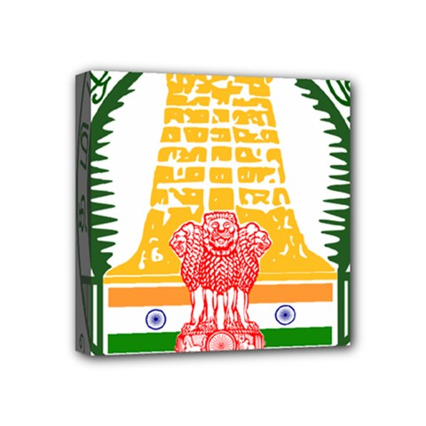 Seal of Indian State of Tamil Nadu  Mini Canvas 4  x 4