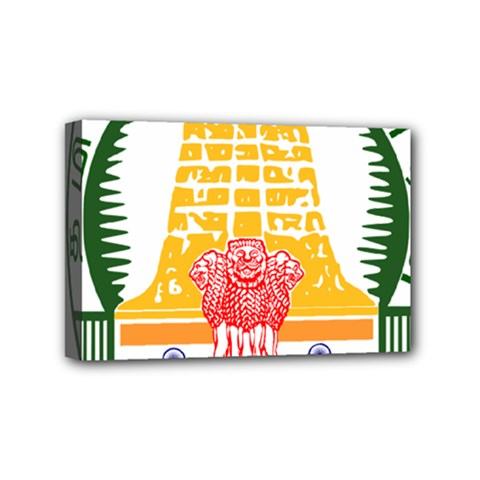 Seal of Indian State of Tamil Nadu  Mini Canvas 6  x 4