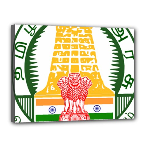 Seal of Indian State of Tamil Nadu  Canvas 16  x 12