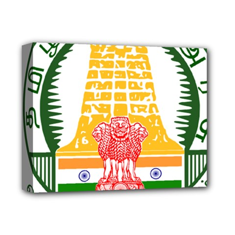 Seal of Indian State of Tamil Nadu  Deluxe Canvas 14  x 11