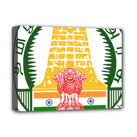 Seal of Indian State of Tamil Nadu  Deluxe Canvas 16  x 12