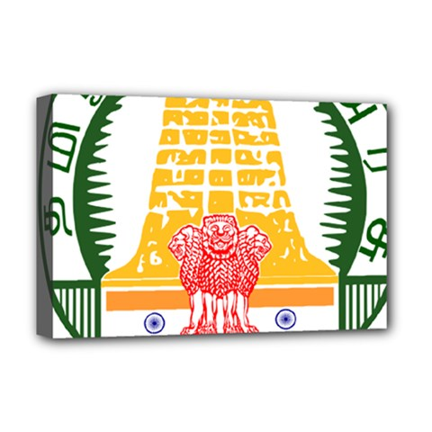Seal of Indian State of Tamil Nadu  Deluxe Canvas 18  x 12