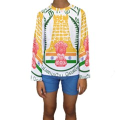 Seal of Indian State of Tamil Nadu  Kids  Long Sleeve Swimwear