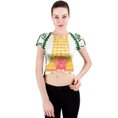Seal of Indian State of Tamil Nadu  Crew Neck Crop Top