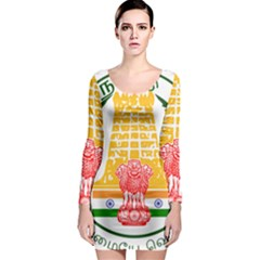 Seal of Indian State of Tamil Nadu  Long Sleeve Bodycon Dress