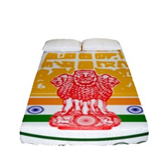 Seal of Indian State of Tamil Nadu  Fitted Sheet (Full/ Double Size)