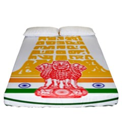 Seal of Indian State of Tamil Nadu  Fitted Sheet (King Size)
