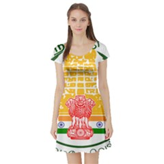Seal of Indian State of Tamil Nadu  Short Sleeve Skater Dress